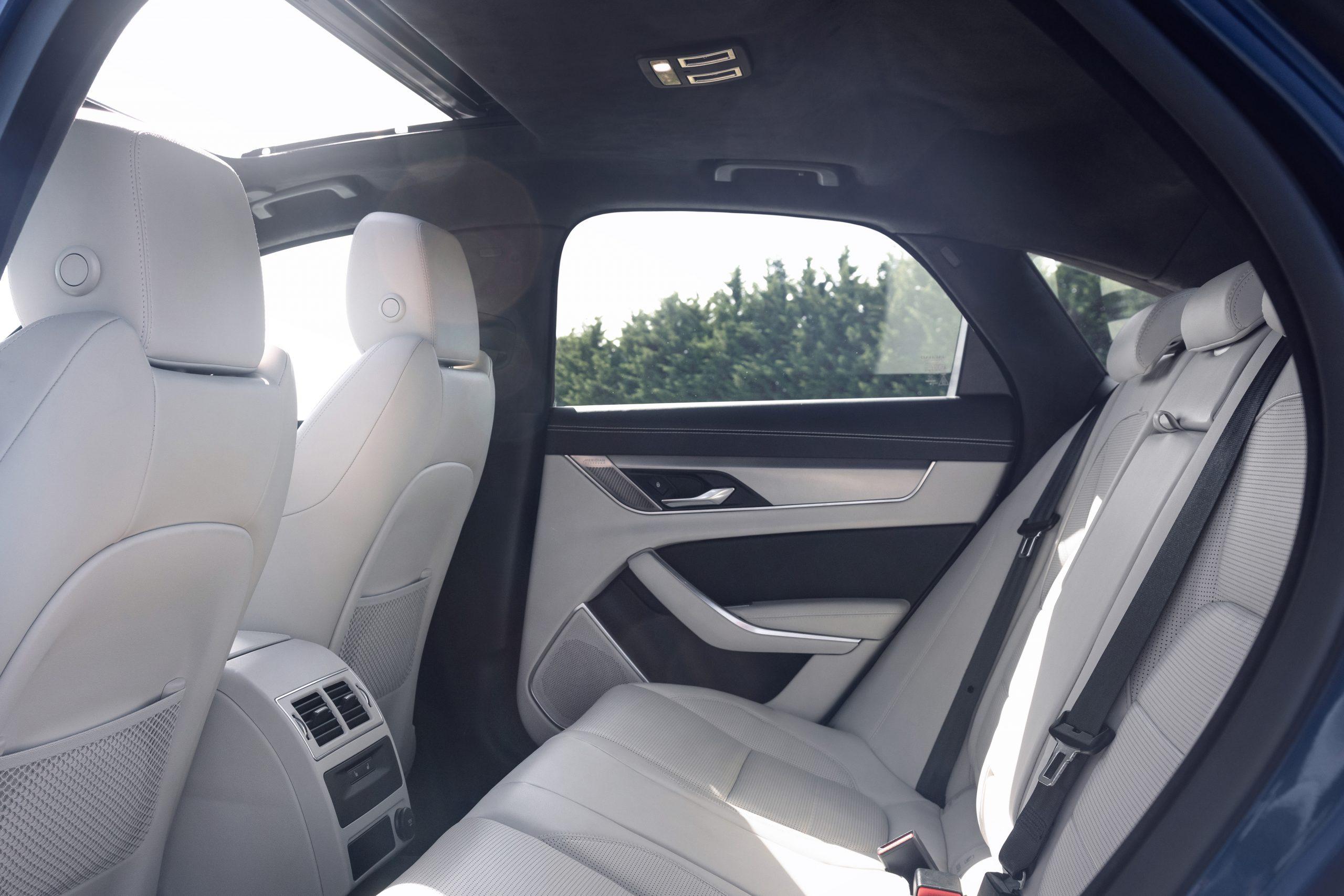 2021 Jaguar XF interior rear seats