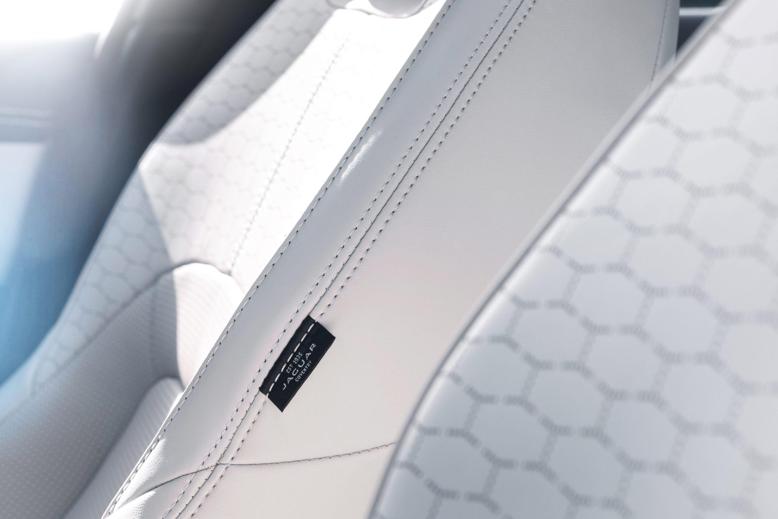 202021 Jaguar XF interior seat detail tag