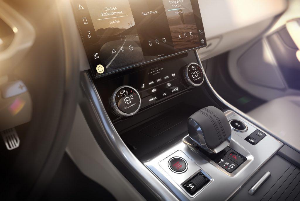 202021 Jaguar XF interior console shifter