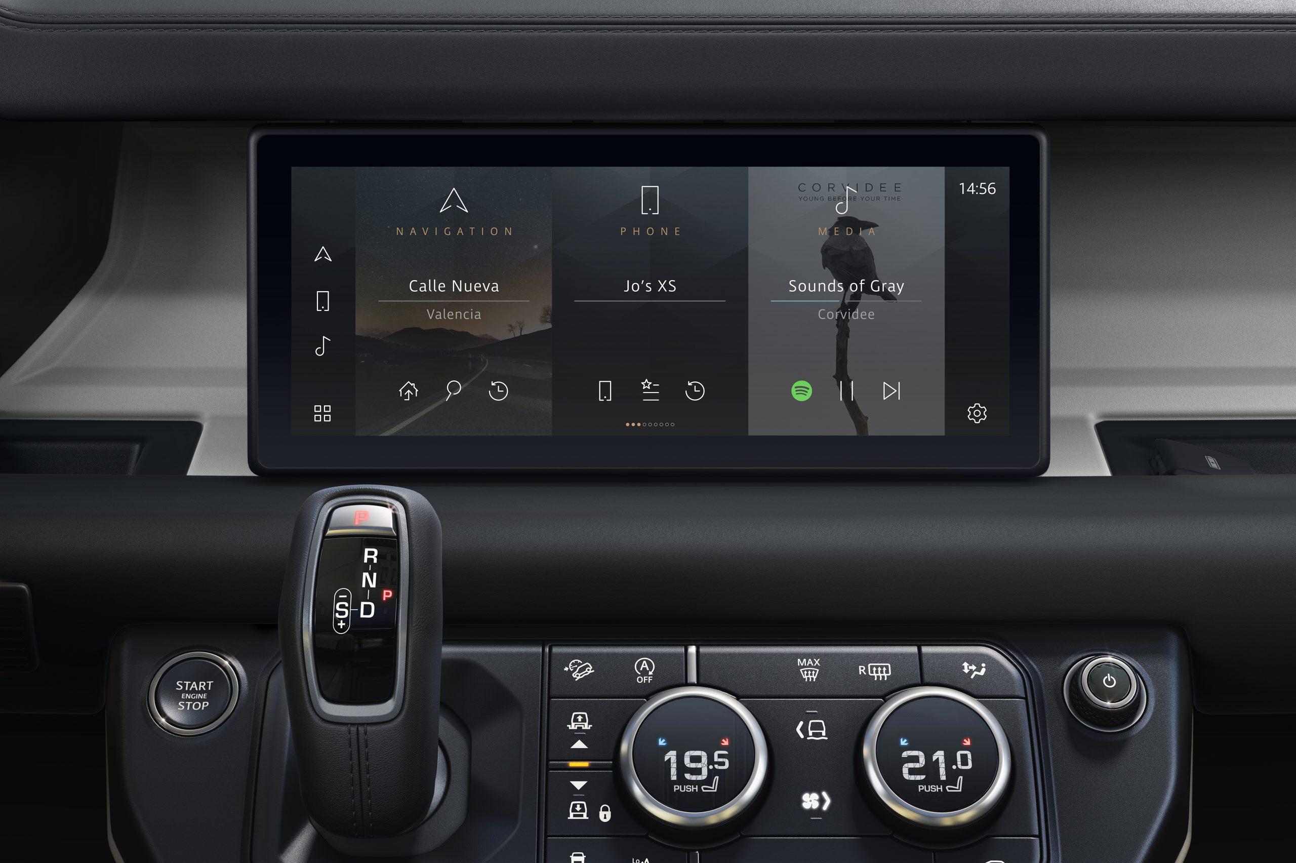 2020 Land Rover Defender interior pivi infotainment