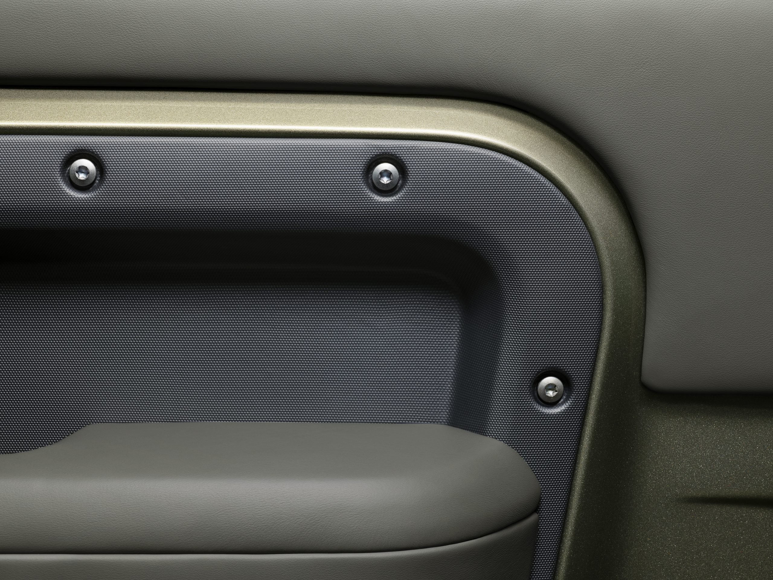 2020 Land Rover Defender interior detail exposed fasteners