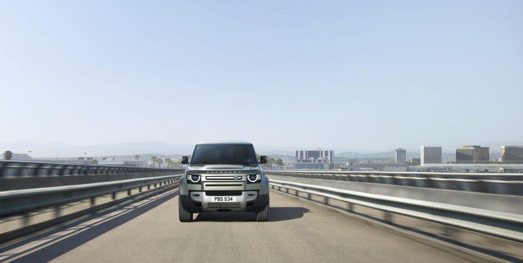 2020 Land Rover Defender on highway