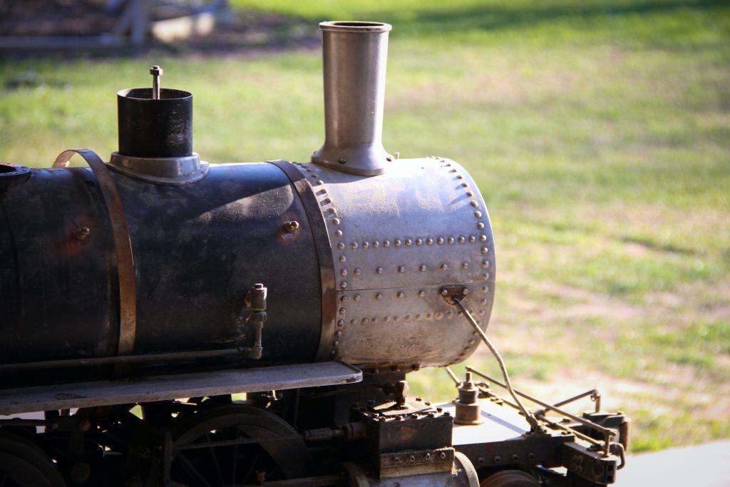 scale locomotive front end unrestored