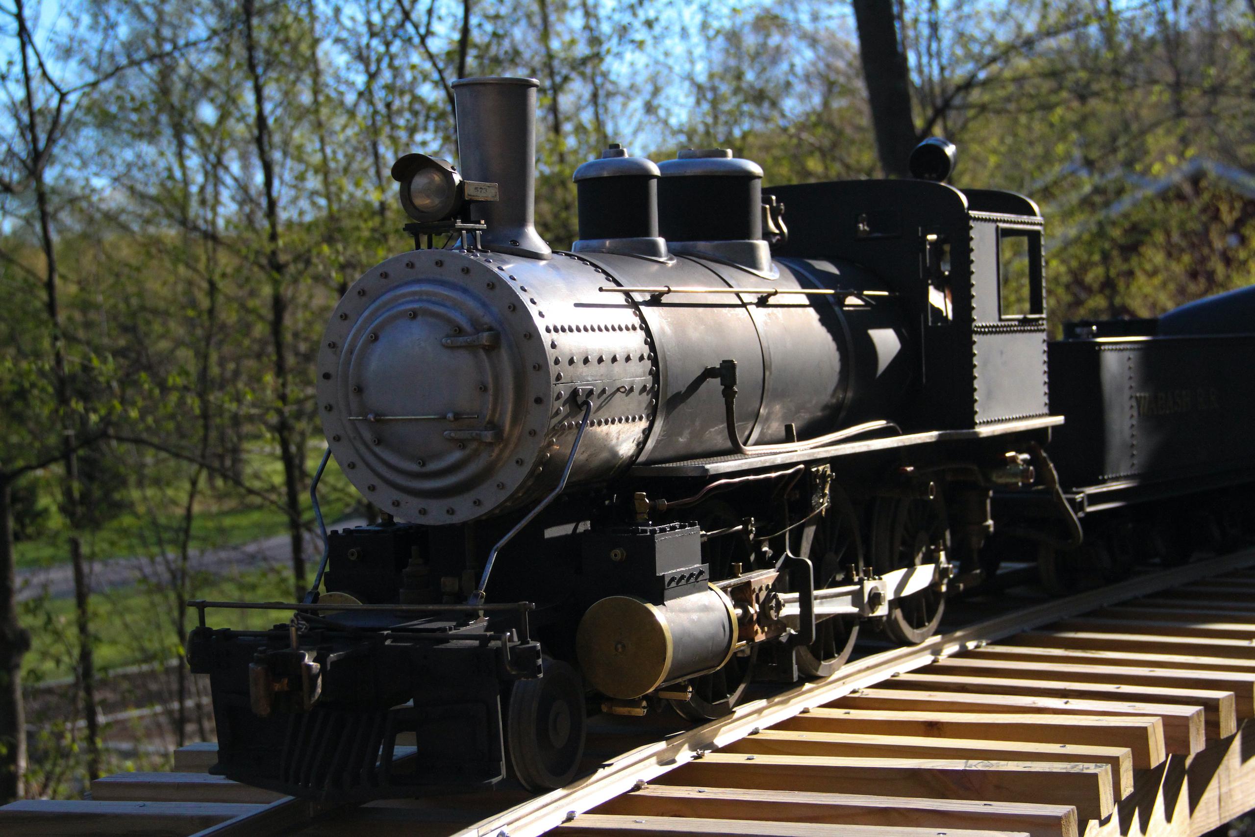 scale locomotive front three-quarter