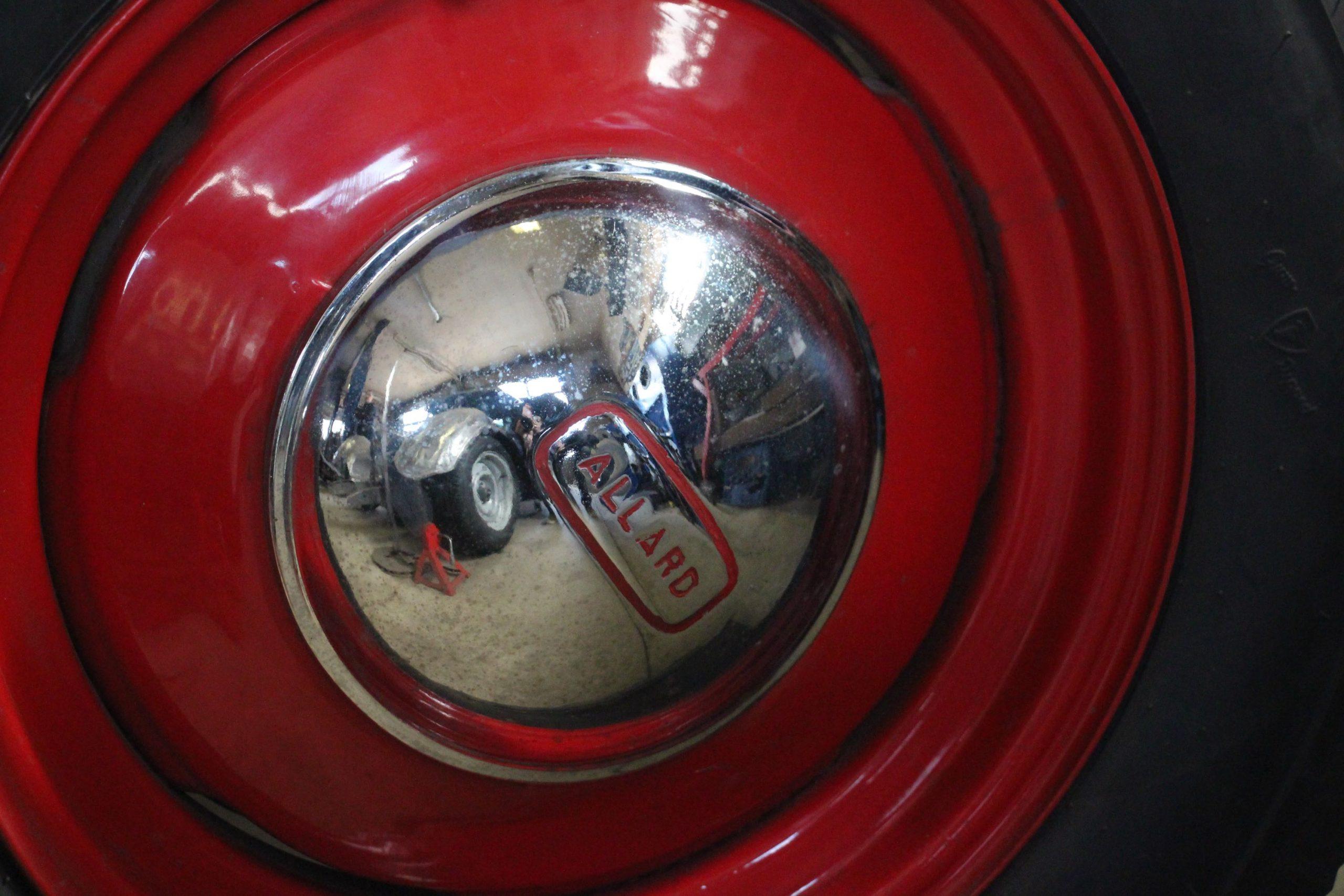 Mike Westwood Allard roadster wheel