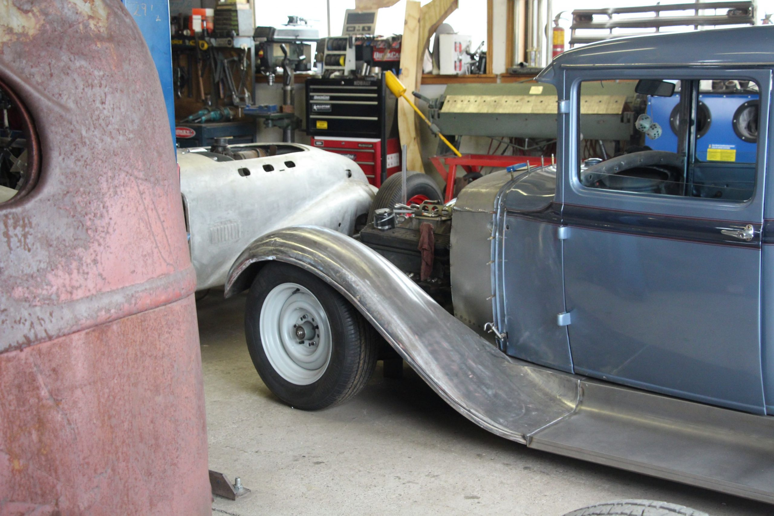Mike Westwood model a datsun chassis