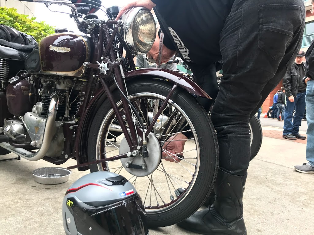 pre-war motorcycle cannonball front wheel maintenance