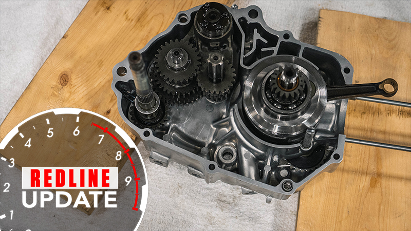 Trail 70 crankcase assembly