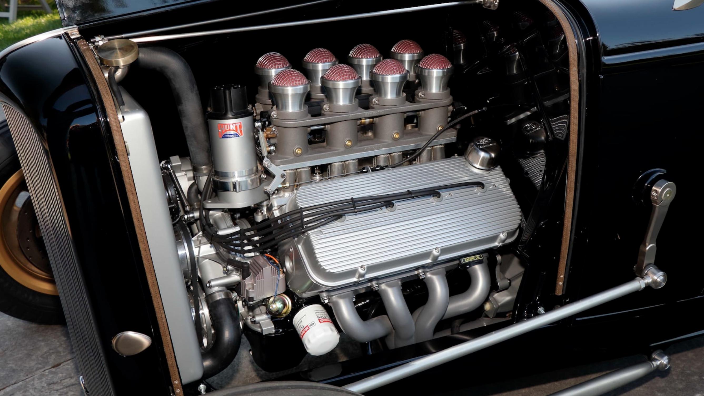 Triple Nickel 1932 Ford Roadster engine