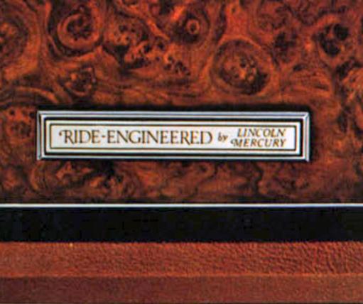 Lincoln-Mercury Ride Engineered Badge Emblem