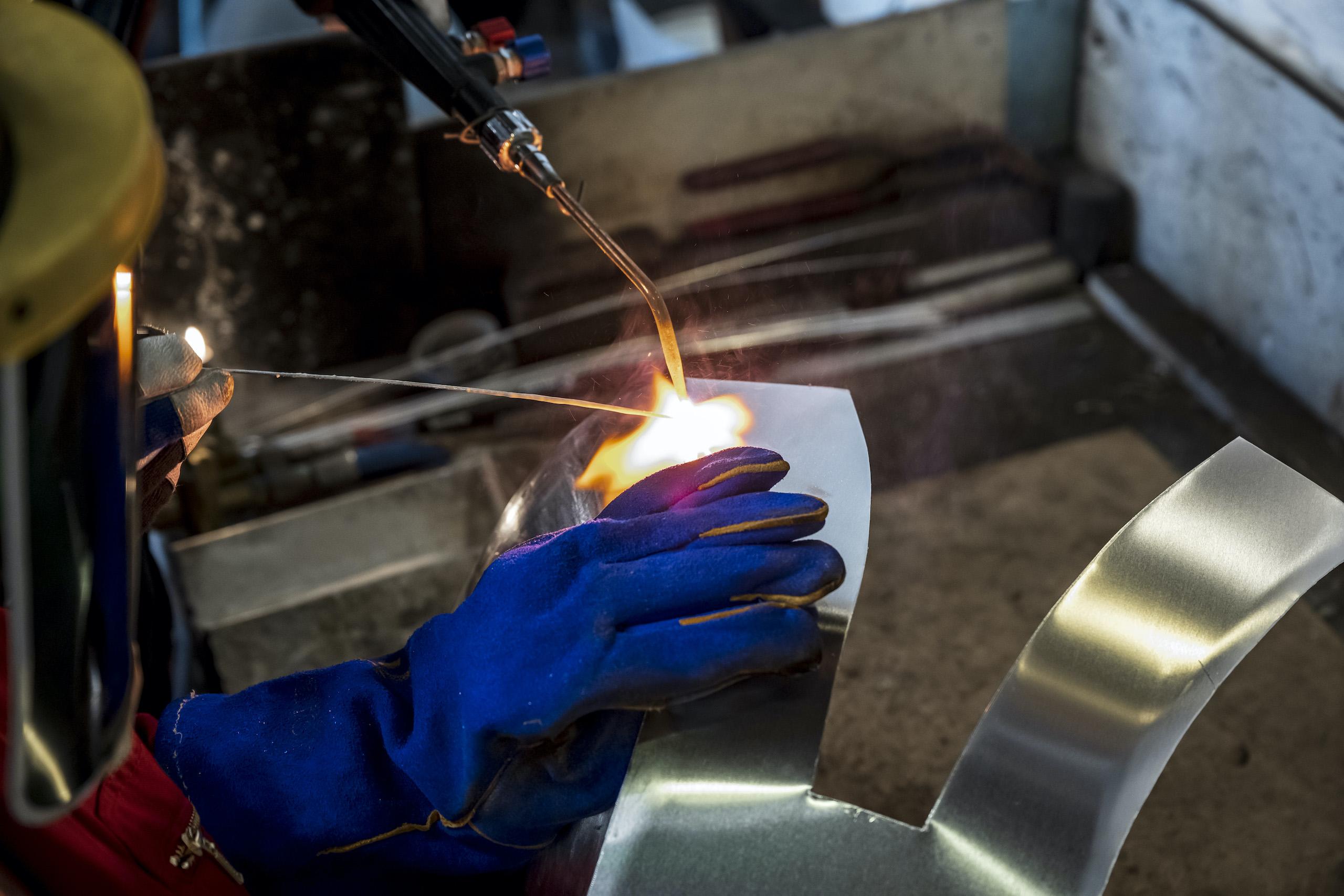 TAB II Classics tank aluminum welding