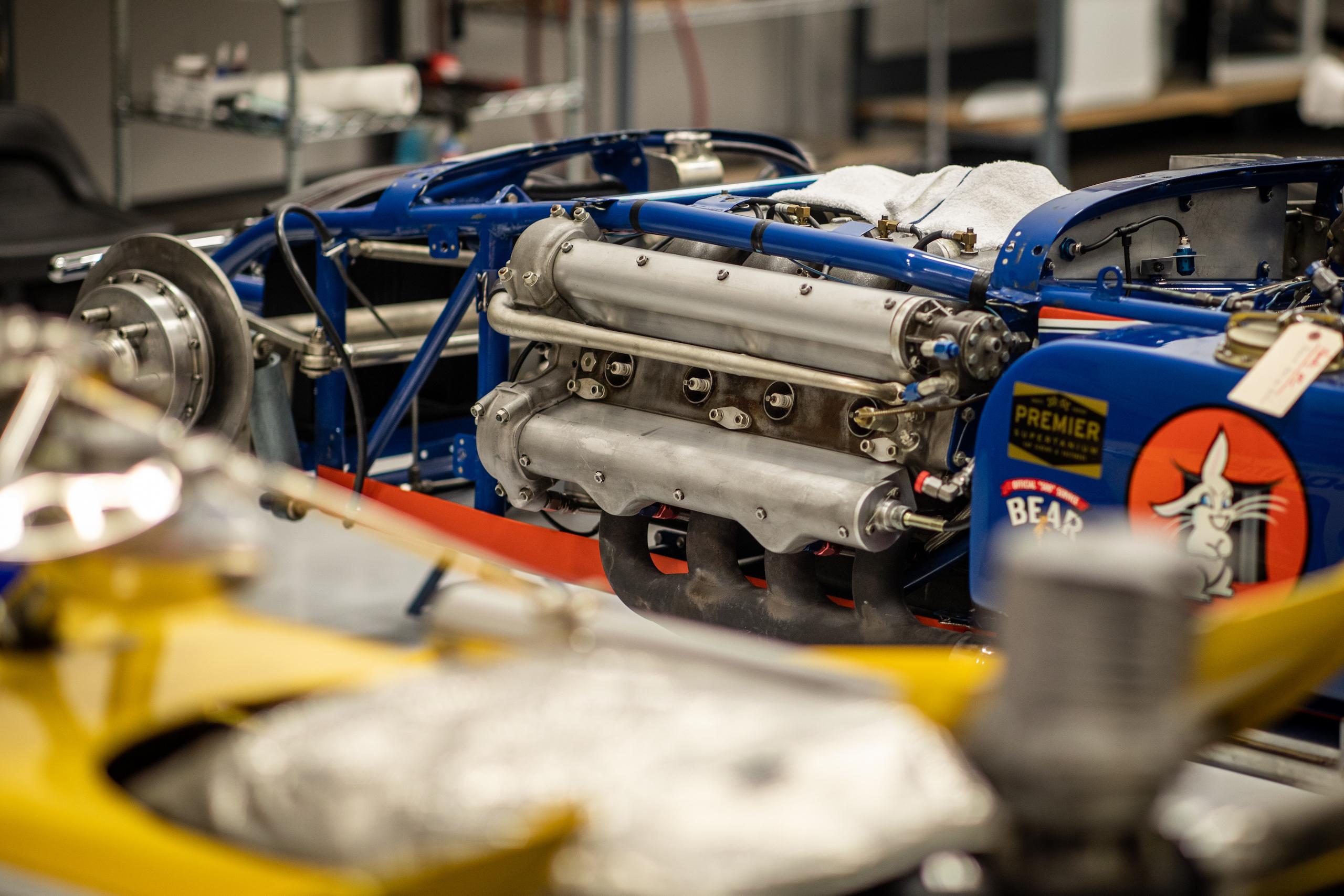 Turn 4 Restorations blue engine
