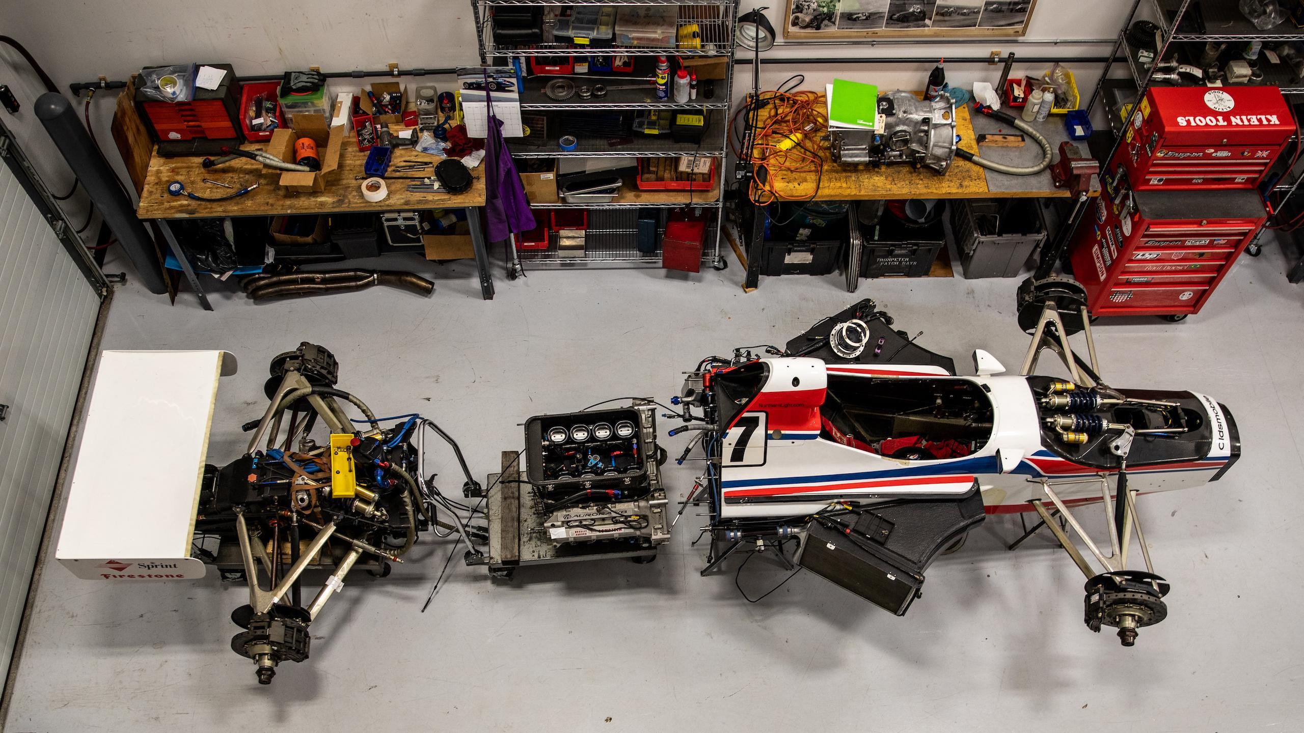 Turn 4 Restorations overhead racer