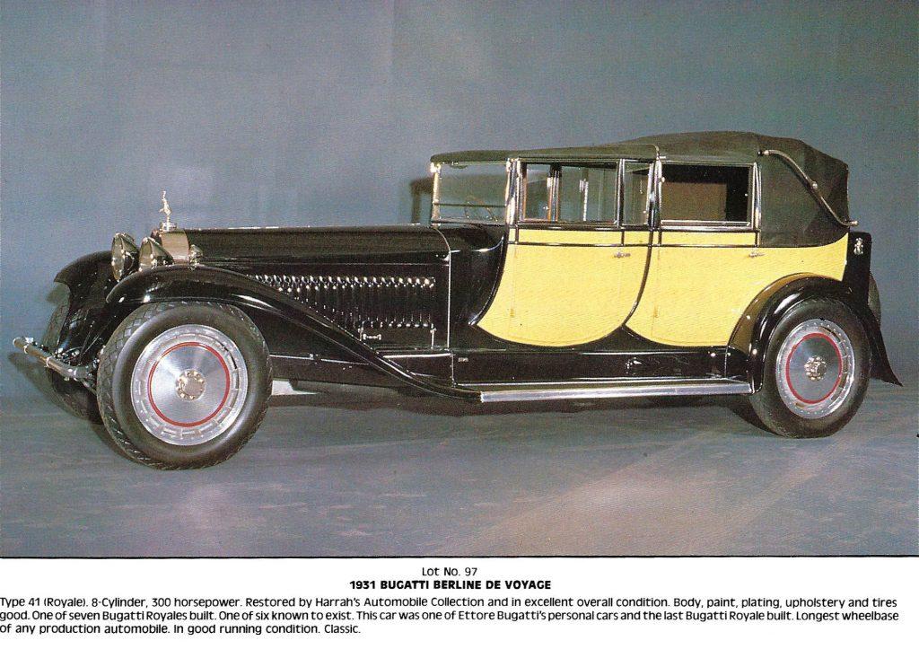 Bugatti Royale listing