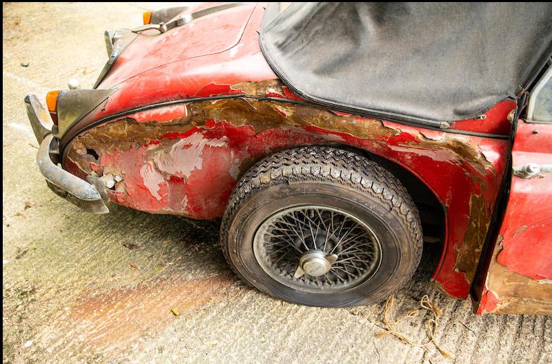 Jaguar XK150 wreck Bonhams 3