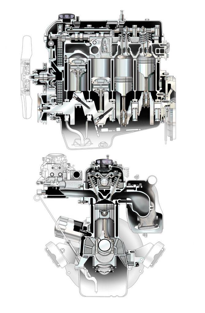 toyota 22R E engine drawings