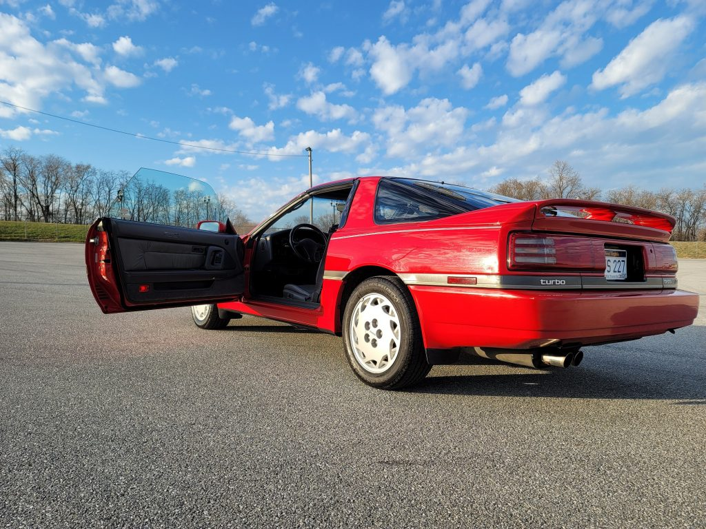 1989 Supra 5 Speed rear three-quarter door open