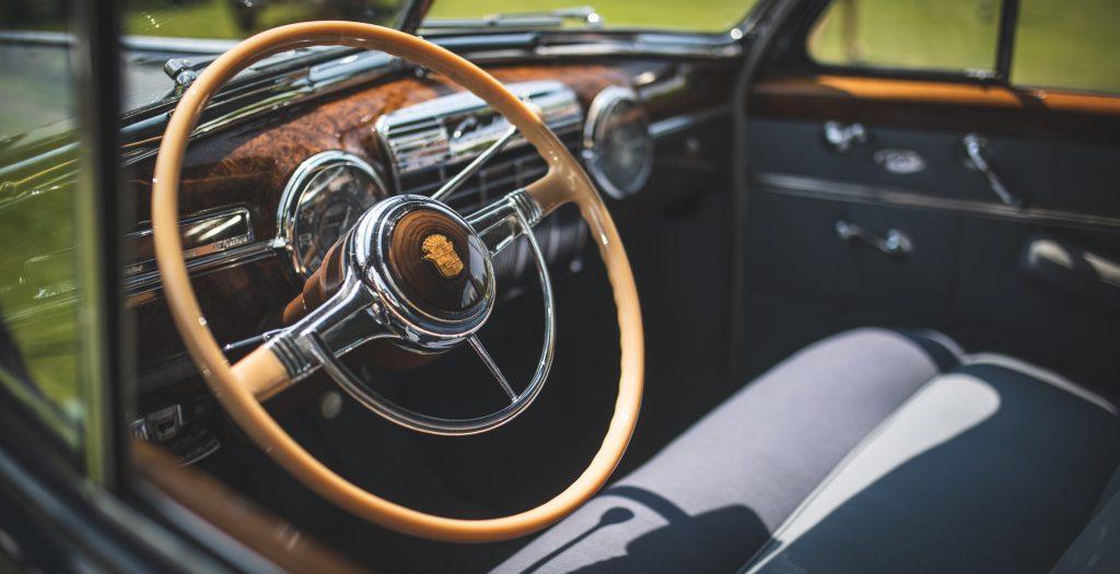 concours america steering wheel detail