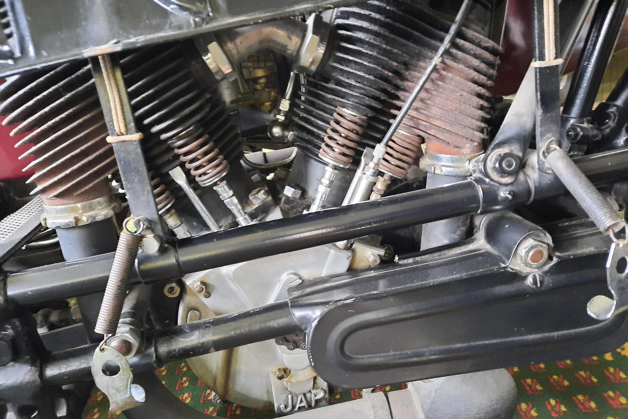 1925 Seal 980CC Motorcycle engine close