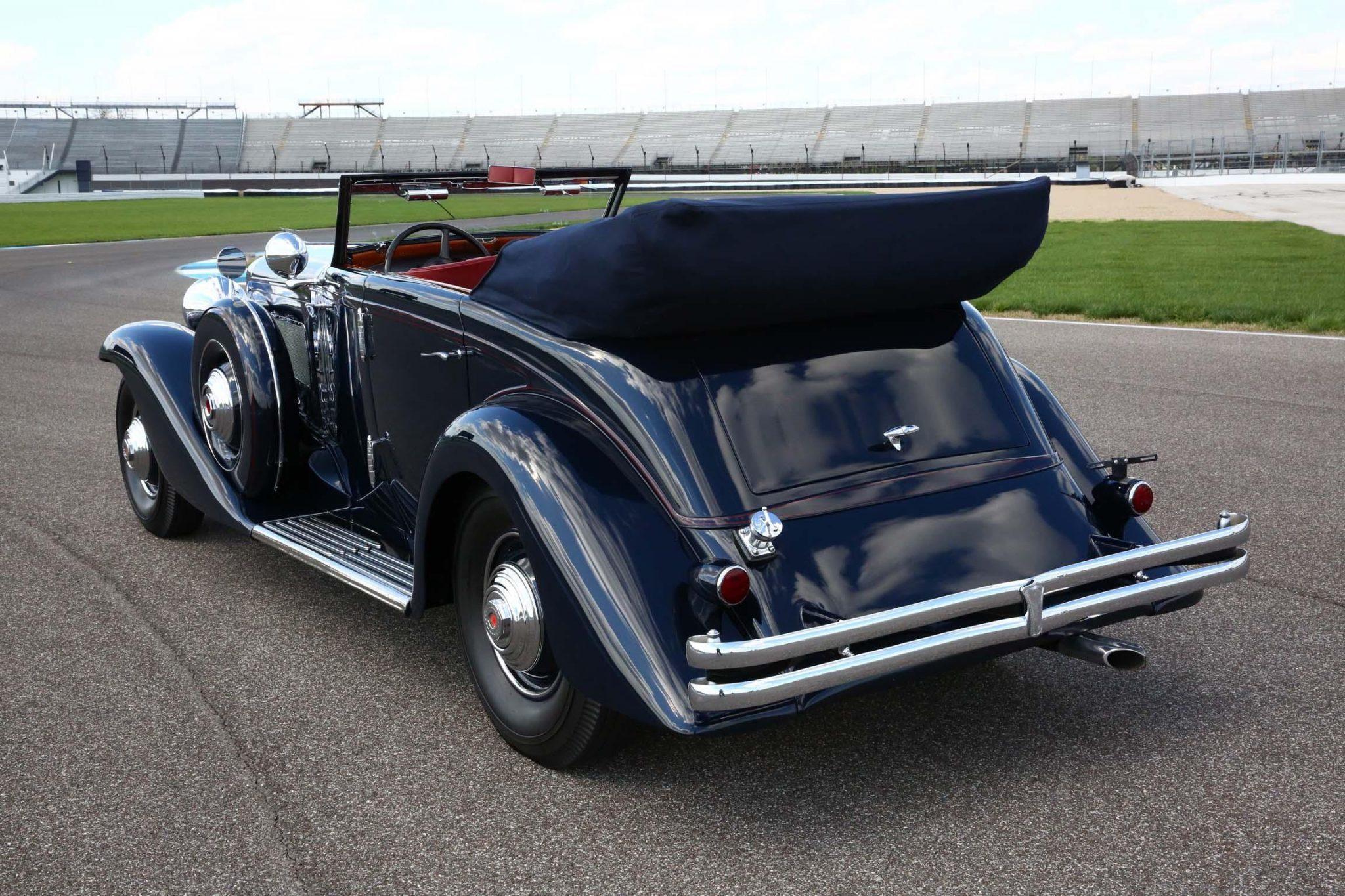 1935 Duesenberg Model JN Convertible Sedan by Rollston rear three-quarter