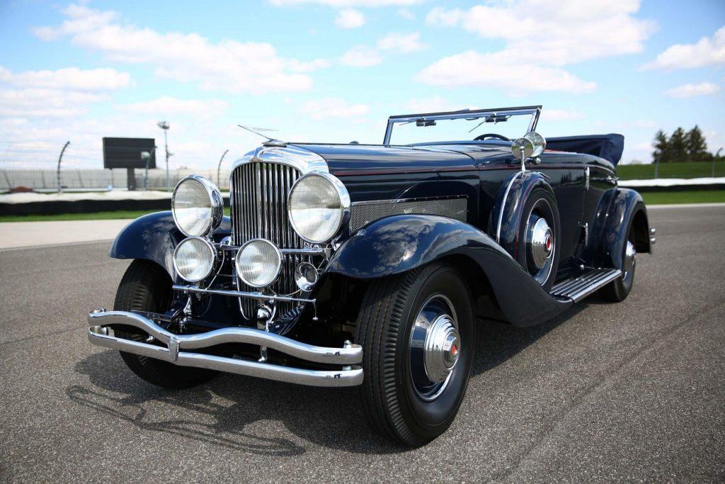 1935 Duesenberg Model JN Convertible Sedan by Rollston front three-quarter