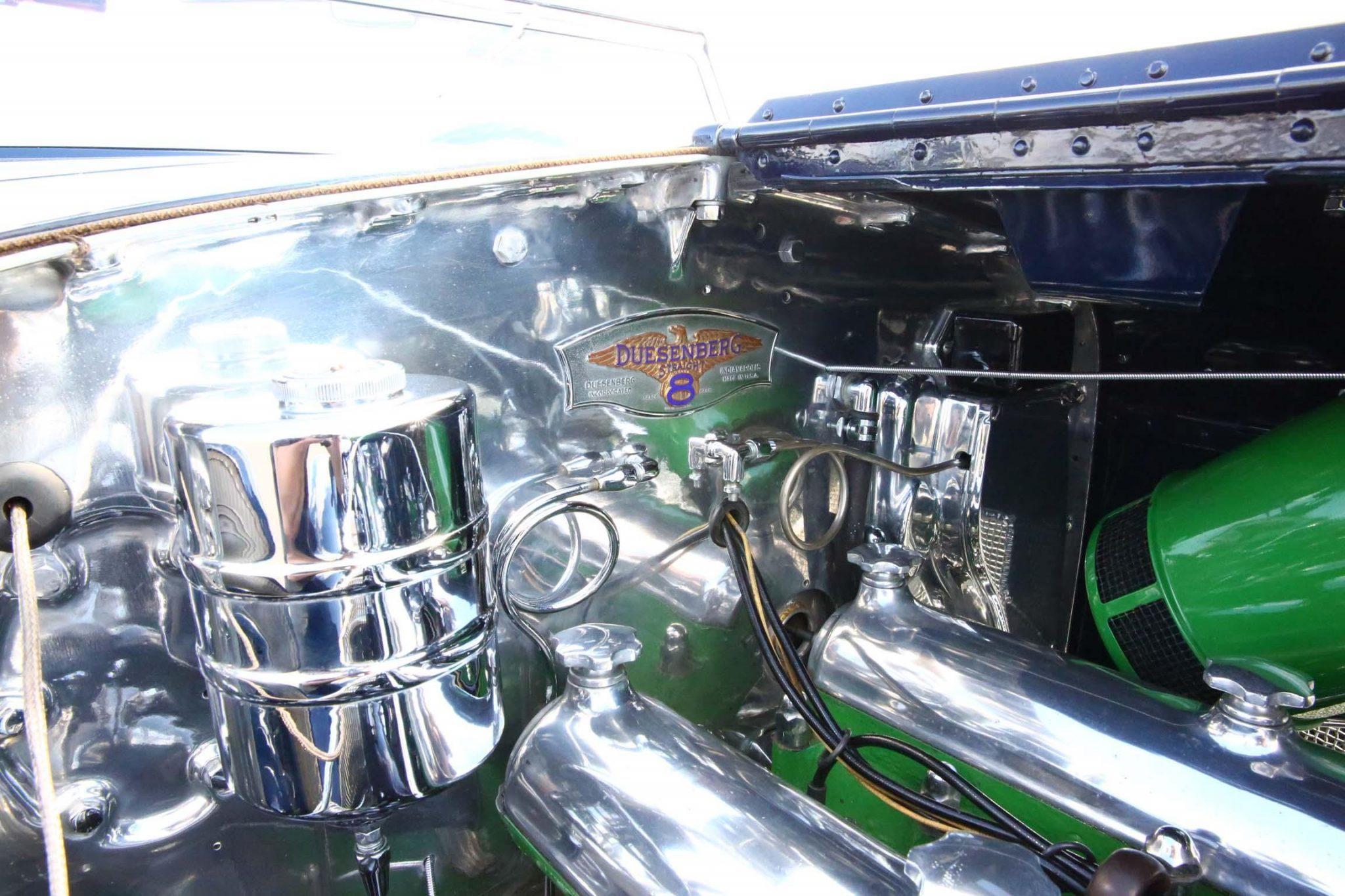 1935 Duesenberg Model JN Convertible Sedan by Rollston engine