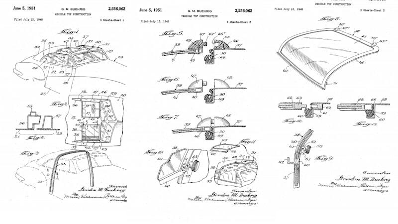 1948 Tasco - Gordon Buehrig T-top patent
