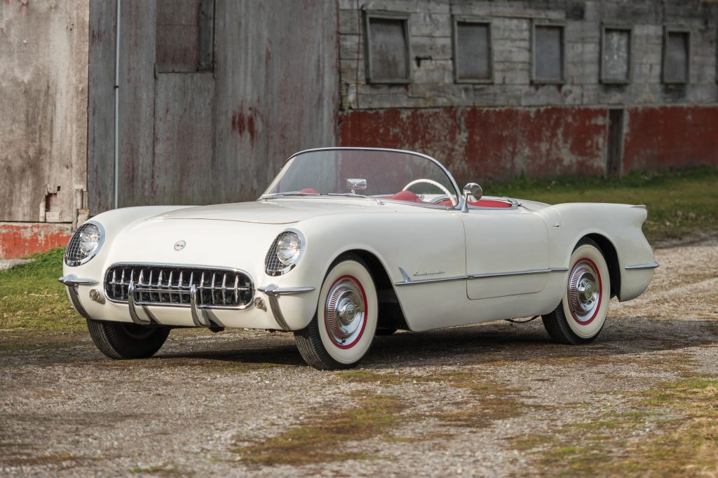 1953 Chevrolet Corvette Roadster Polo White front three-quarter