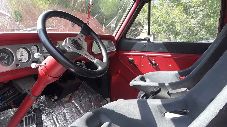 1964 Chevrolet G-20 interior steering wheel