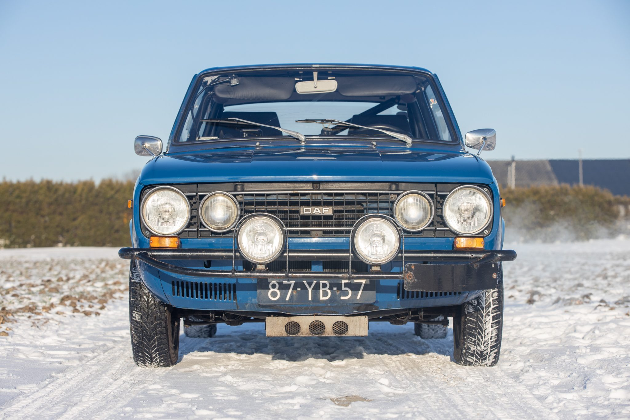 1975 DAF 66 Marathon Coupe Rally Car front