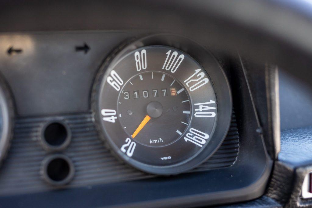 1975 DAF 66 Marathon Coupe Rally Car speedometer