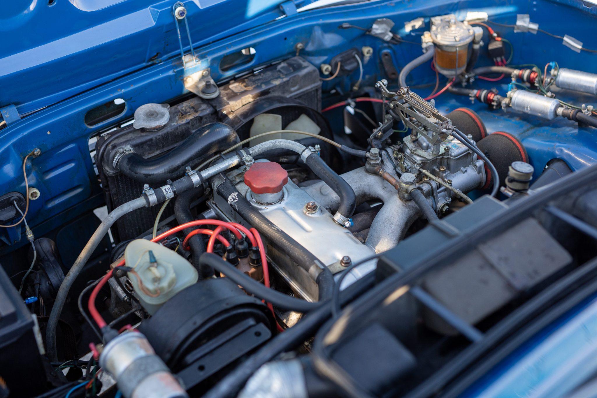 1975 DAF 66 Marathon Coupe Rally Car engine