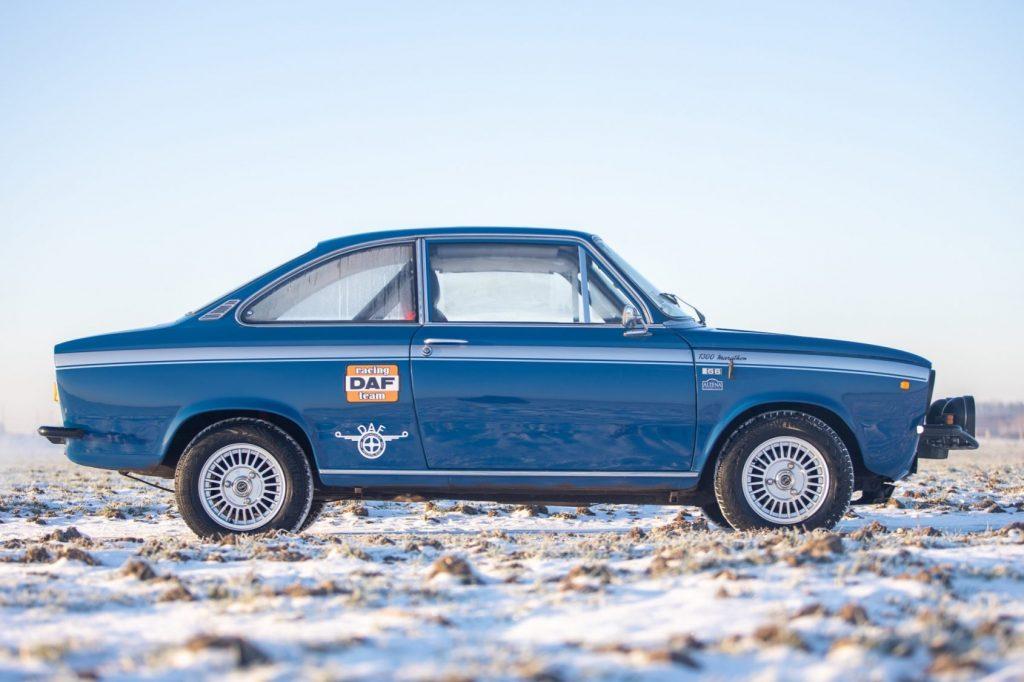 1975 DAF 66 Marathon Coupe Rally Car side profile