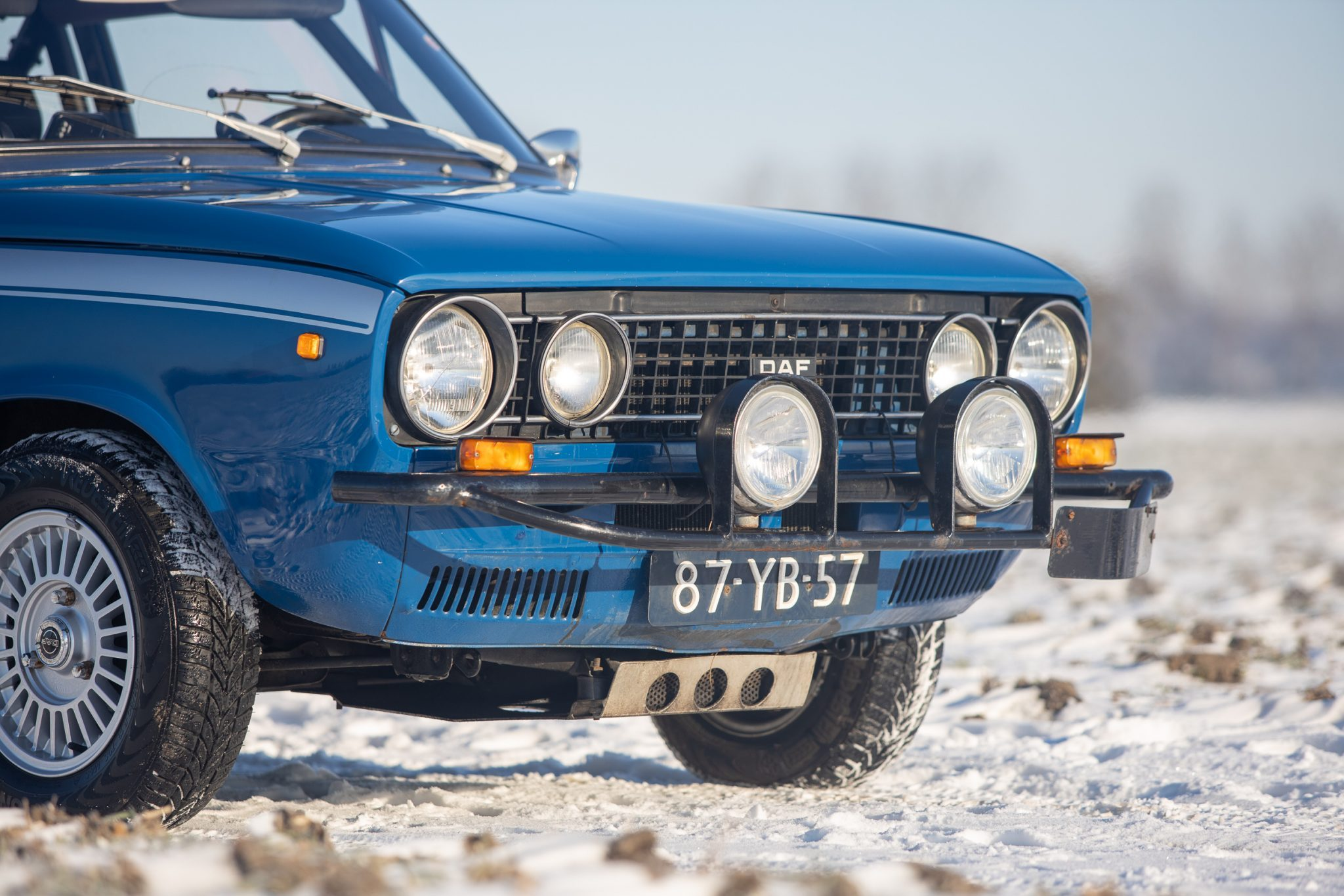 1975 DAF 66 Marathon Coupe Rally Car front end