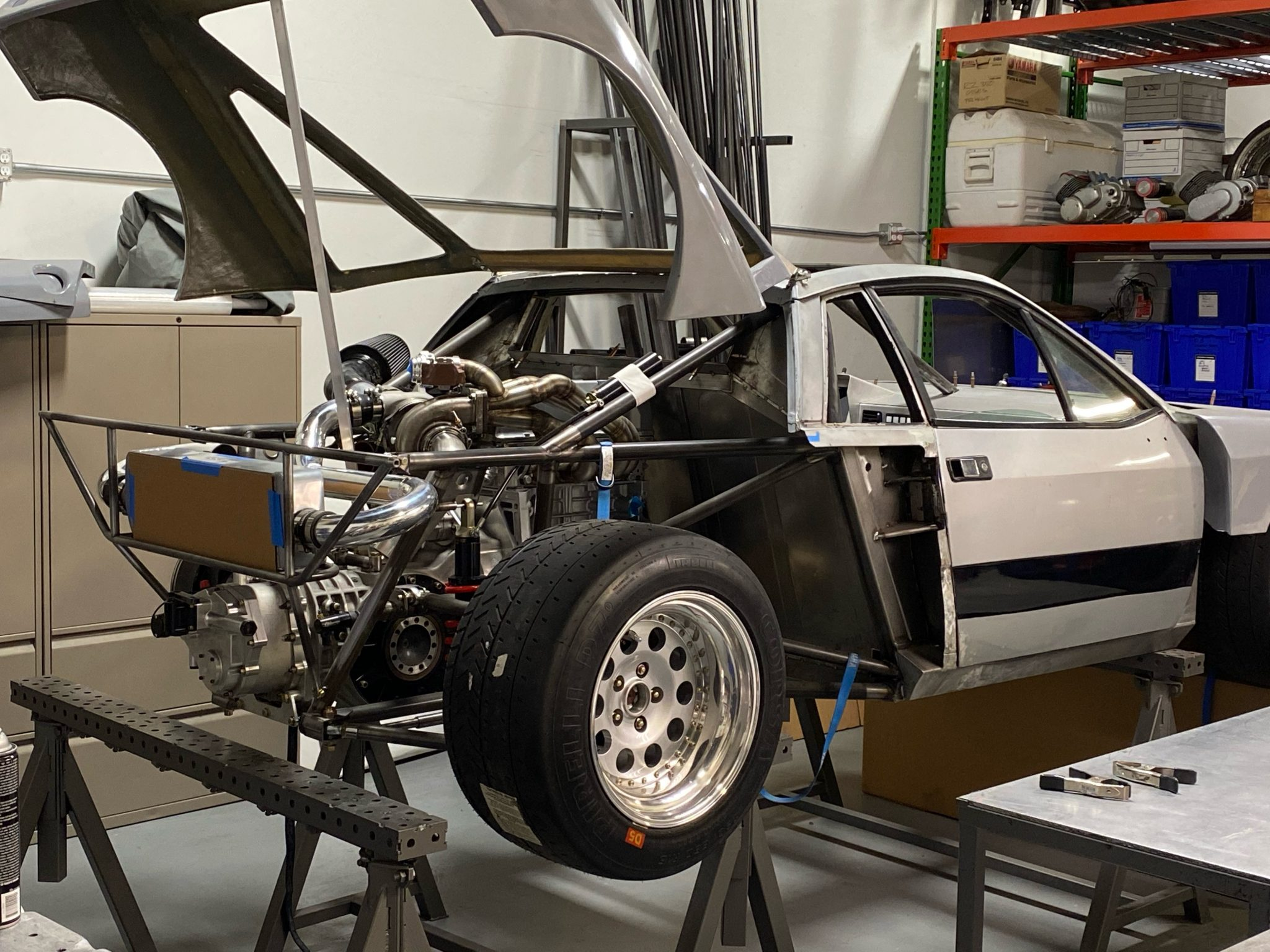 1977 Lancia 037 Tribute rear three-quarter on stands