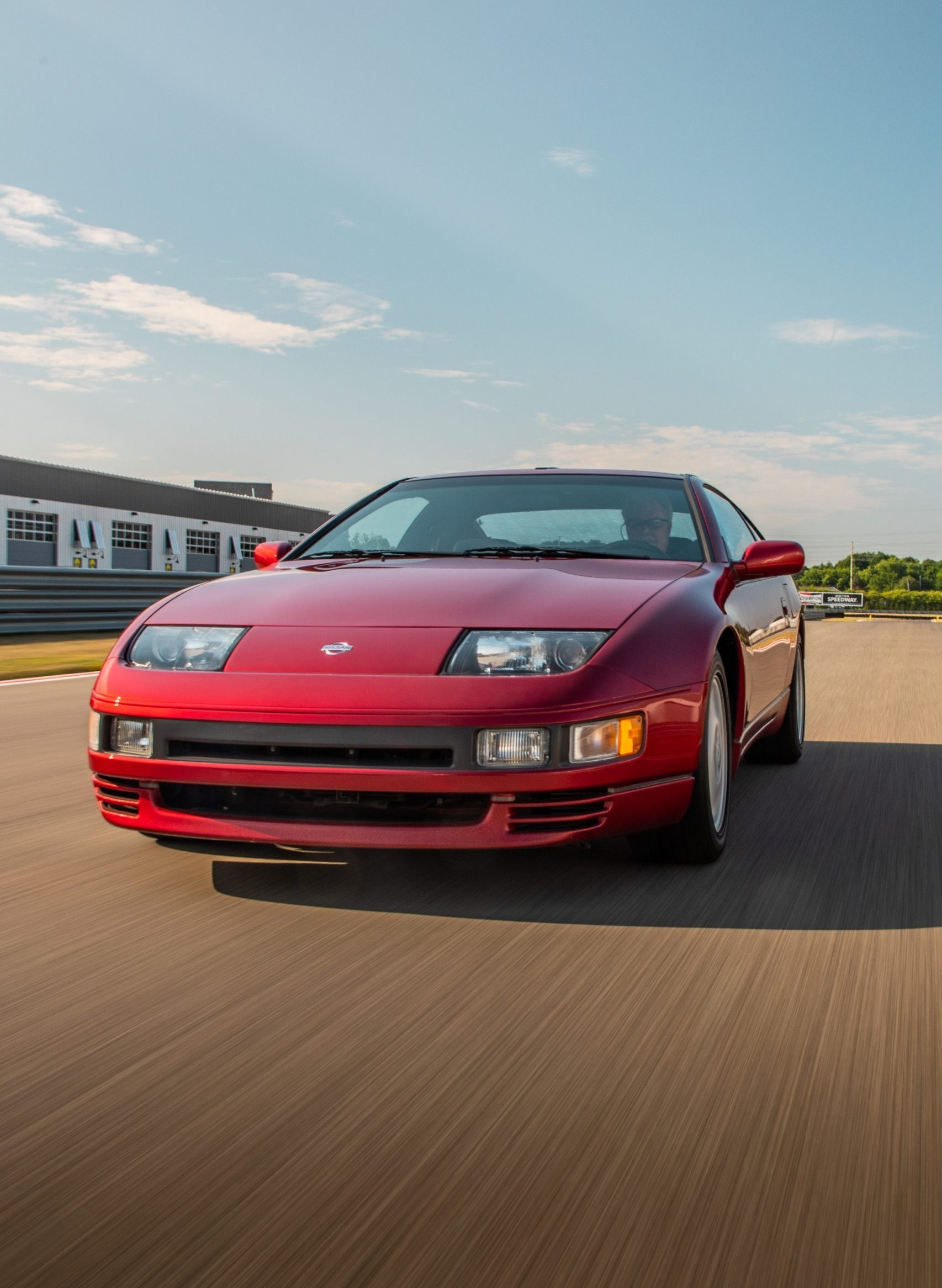 1993 Nissan 300 ZX front three-quarter action vertical