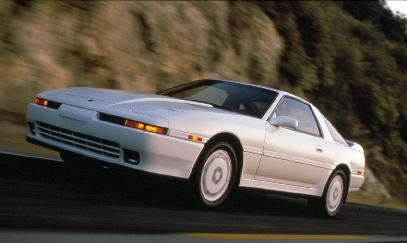 Toyota Supra front three-quarter
