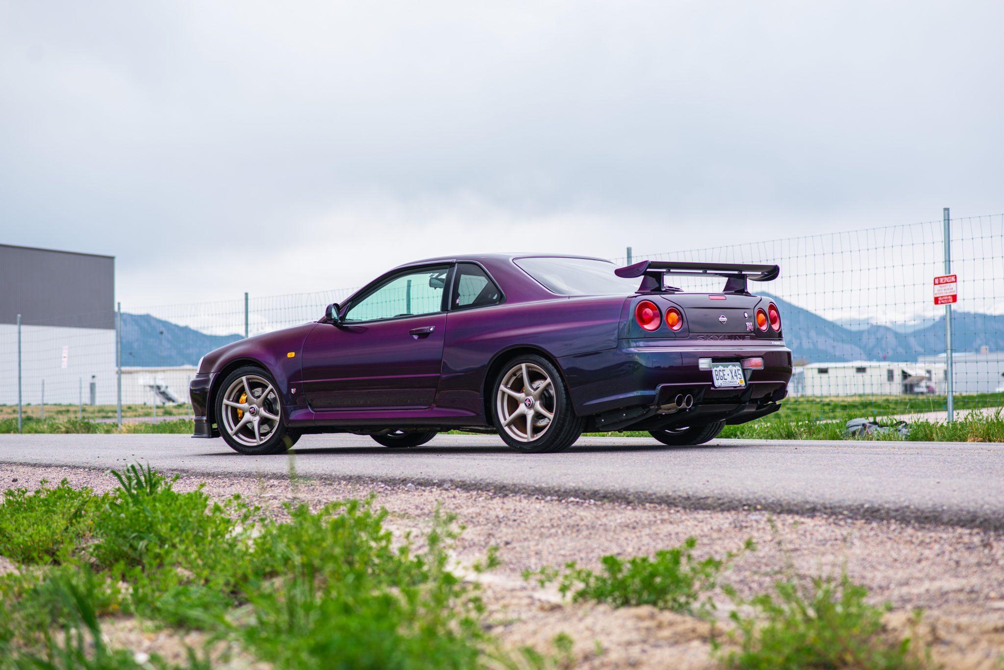 1999 Nissan Skyline GT-R V-Spec rear three-quarter