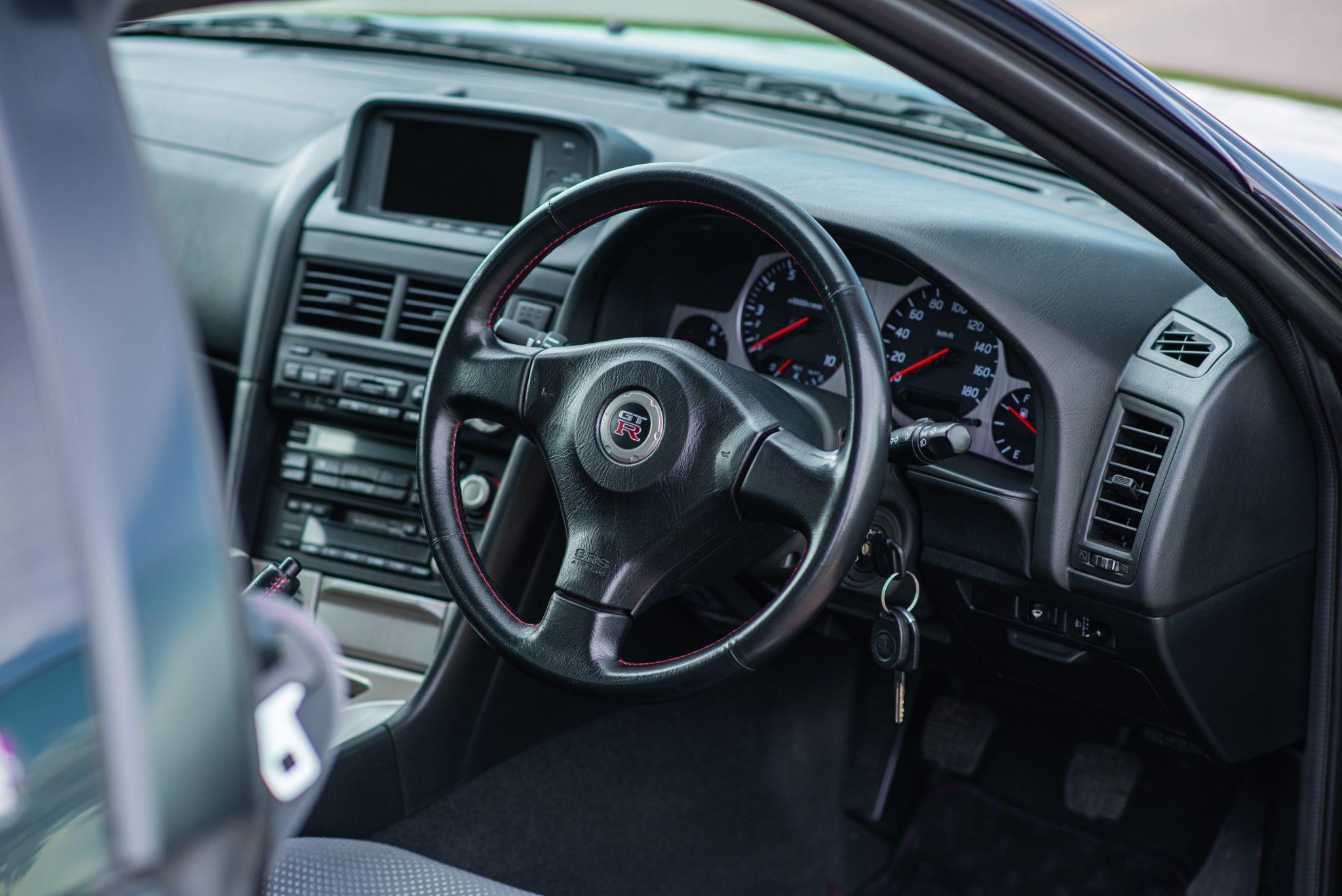 1999 Nissan Skyline GT-R V-Spec interior driver side