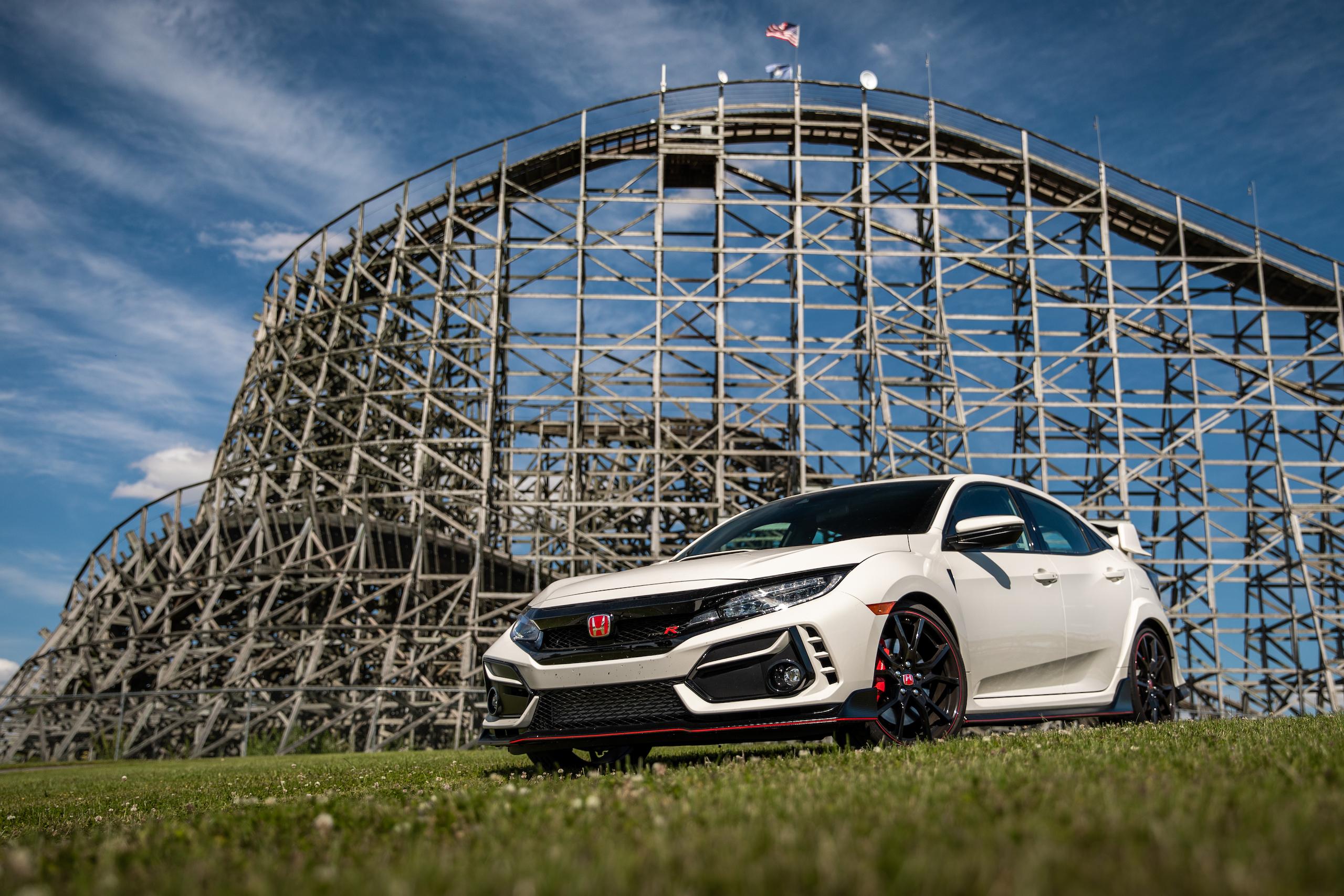 2020 Honda Civic Type R front three-quarter roller coaster