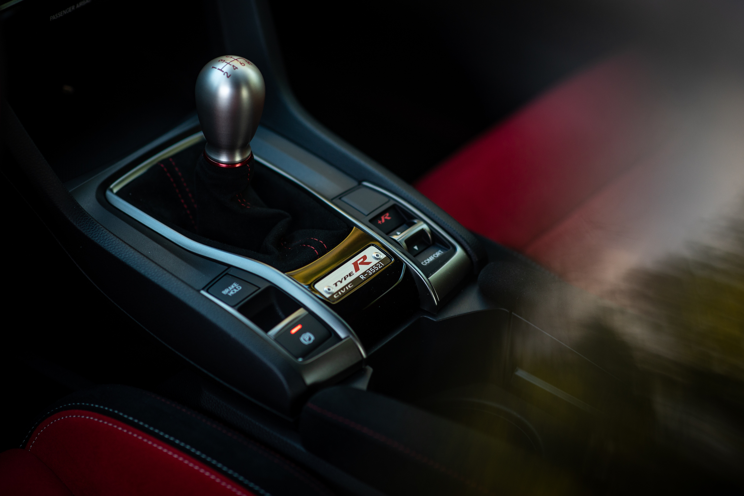 2020 Honda Civic Type R interior center console detail
