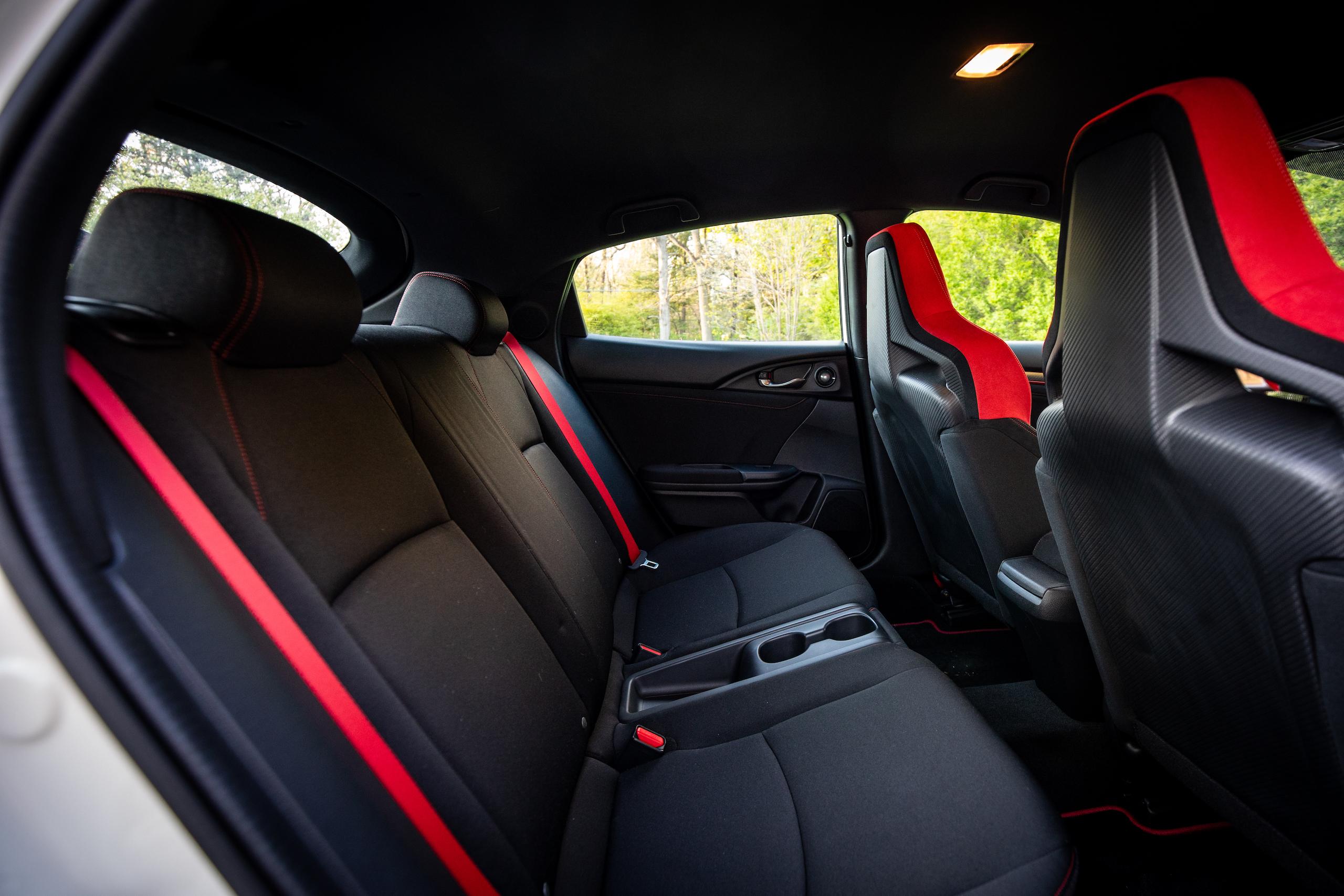 2020 Honda Civic Type R interior back seat
