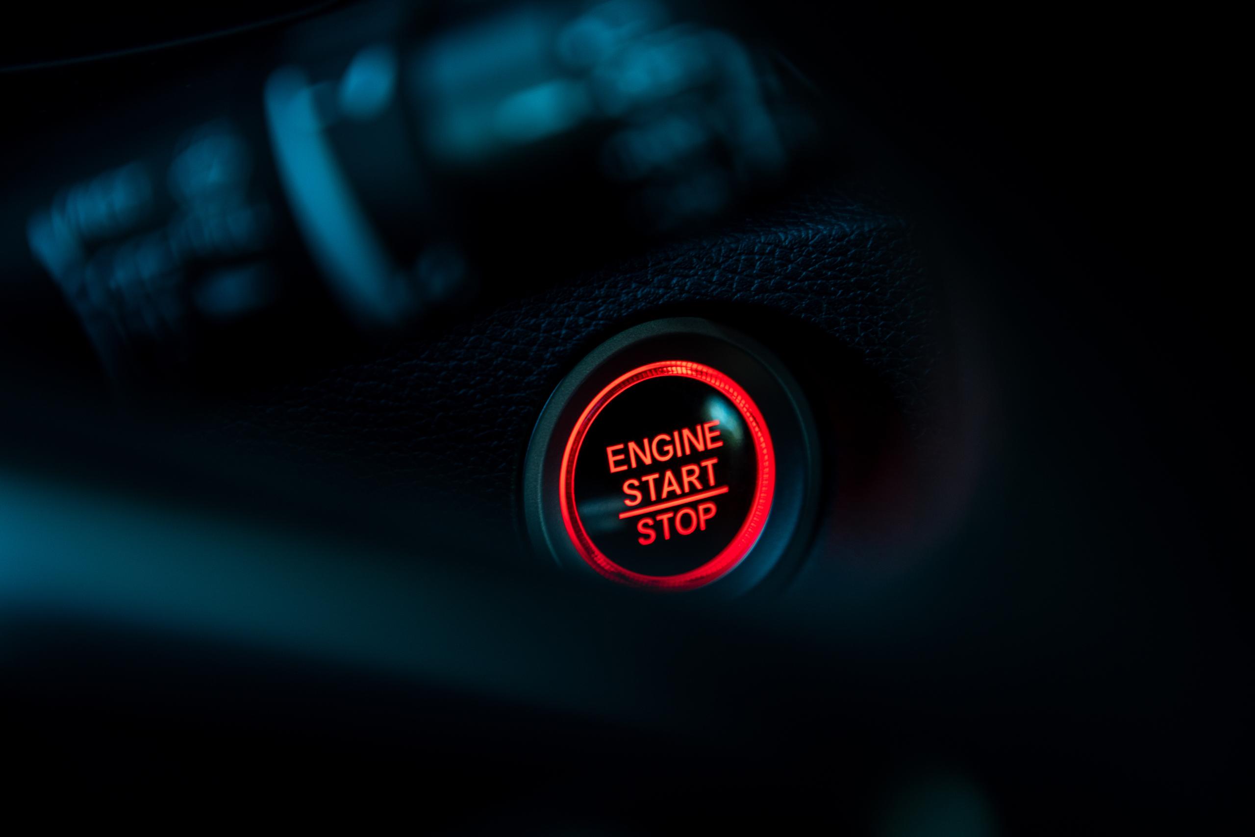 2020 Honda Civic Type R interior start stop button detail