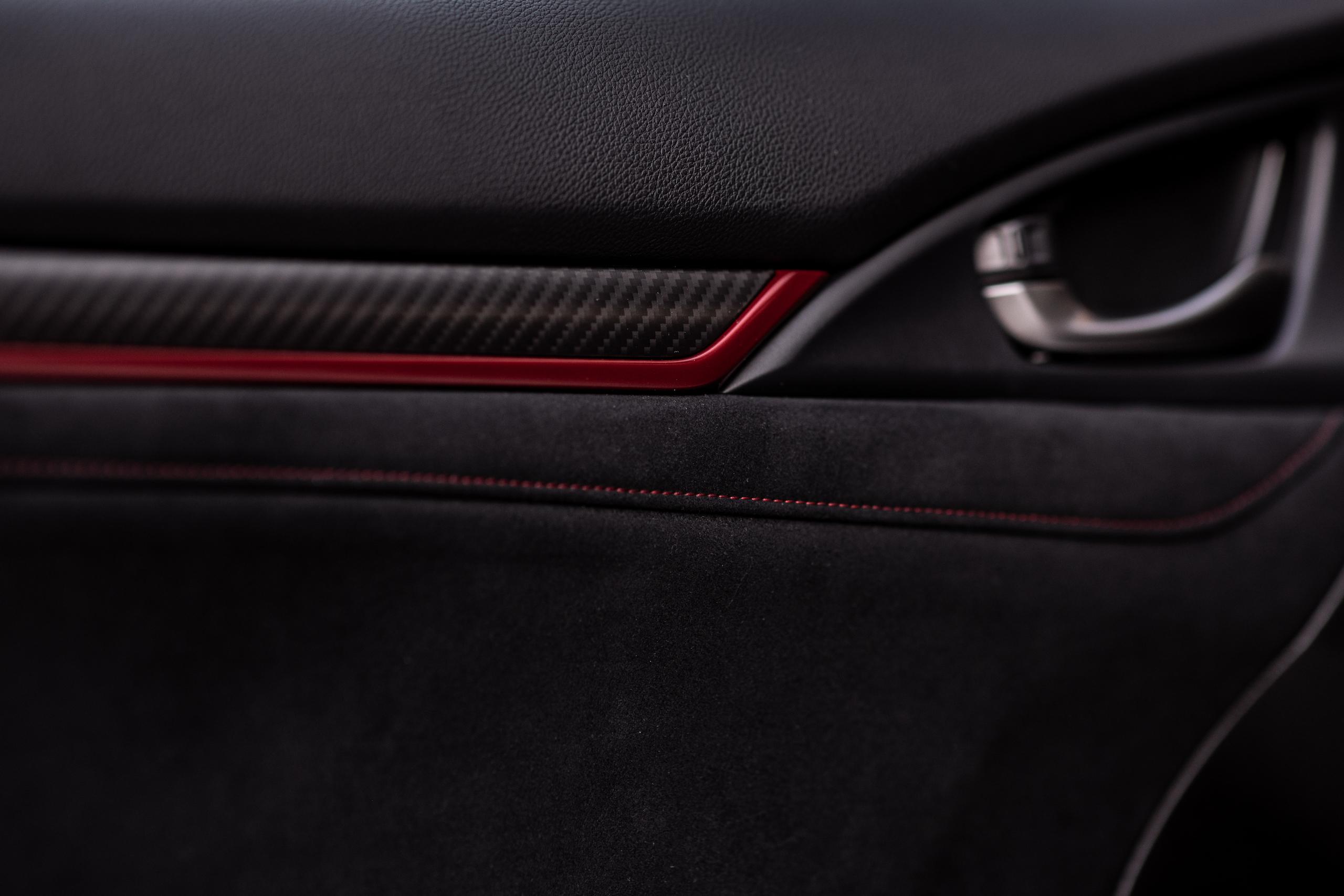 2020 Honda Civic Type R interior door panel detail