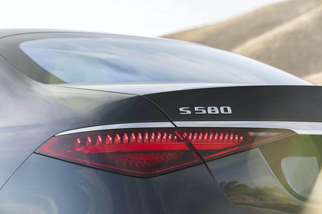 Mercedes Benz-S-Class rear badge