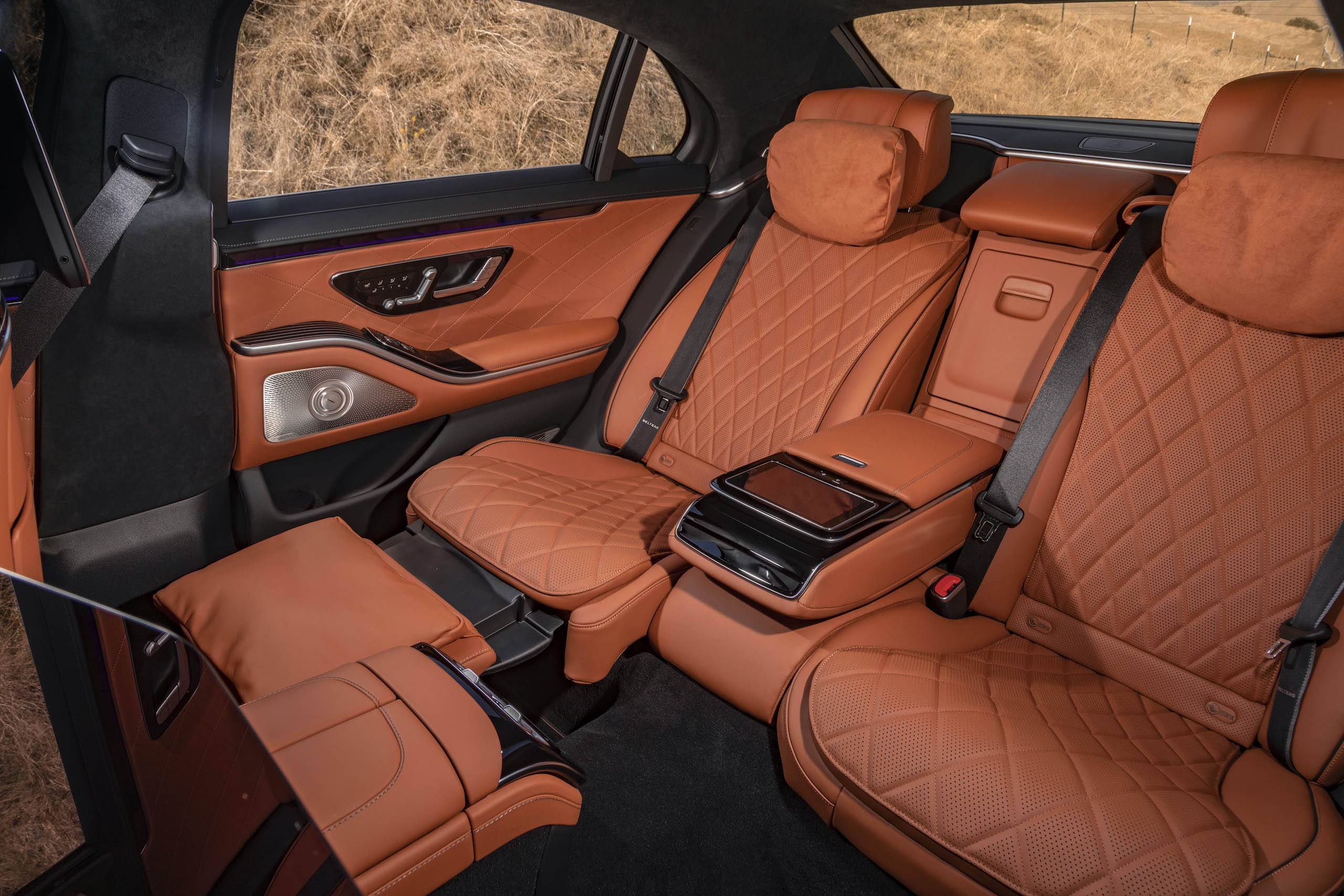 Mercedes Benz-S-Class interior rear seat