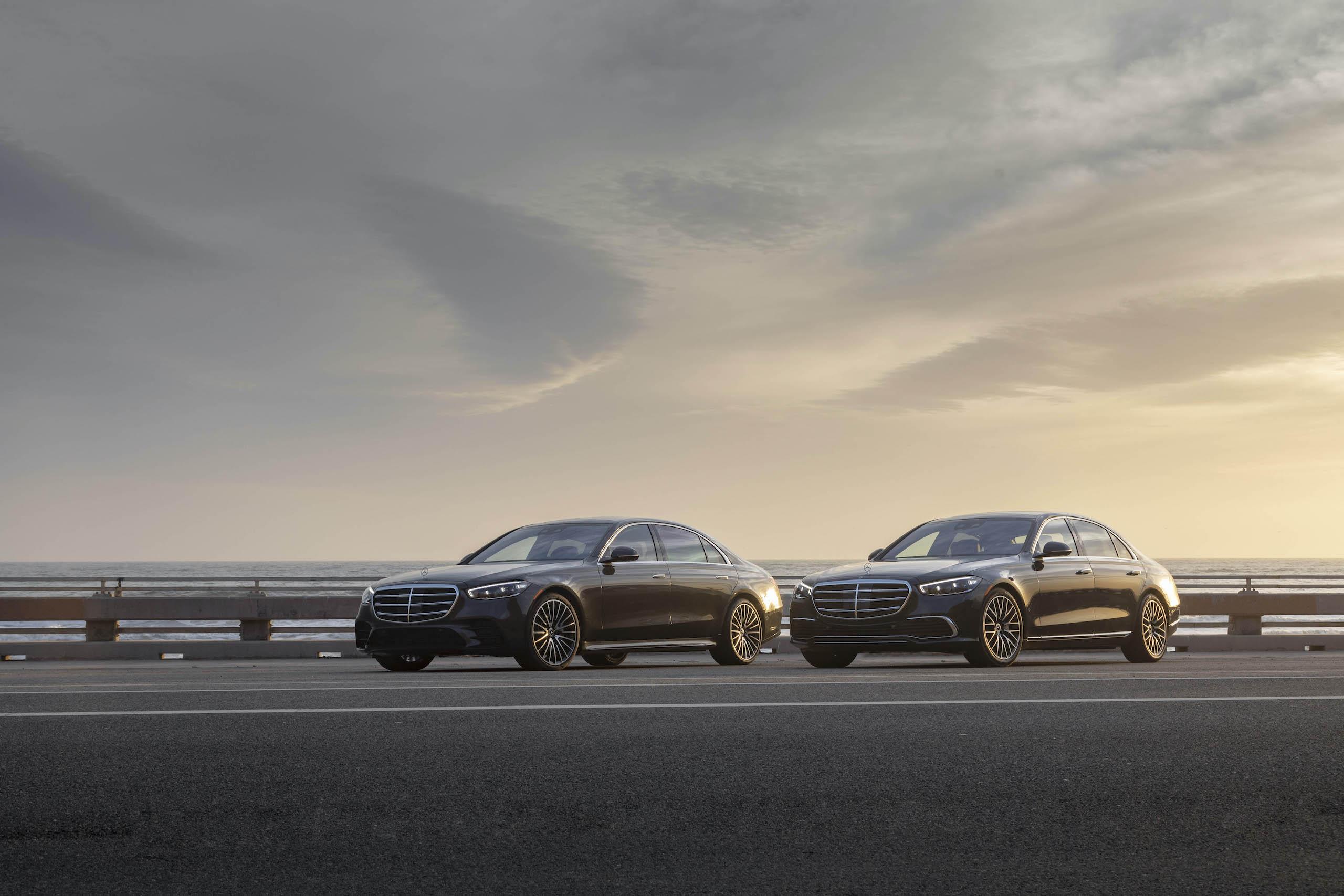 Mercedes Benz-S-Class fronts three-quarter