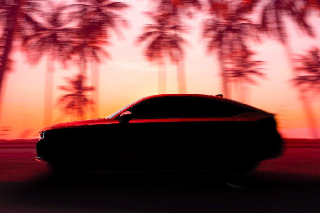 2022 Honda Civic Hatchback side profile teaser