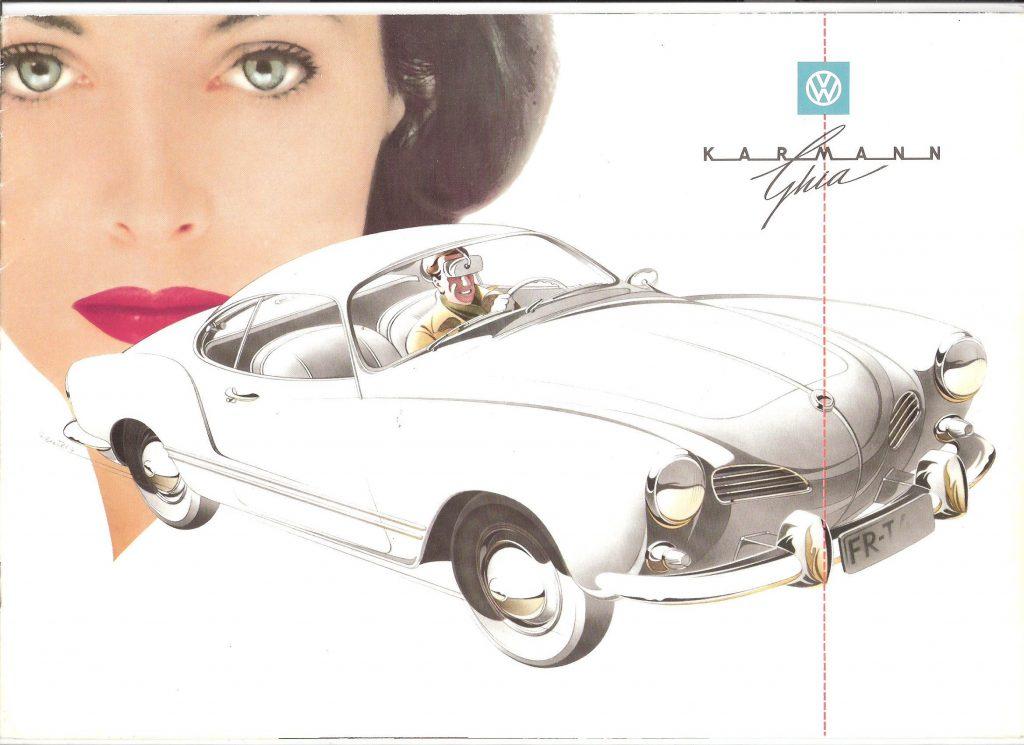 Karmann Ghia ad illustration