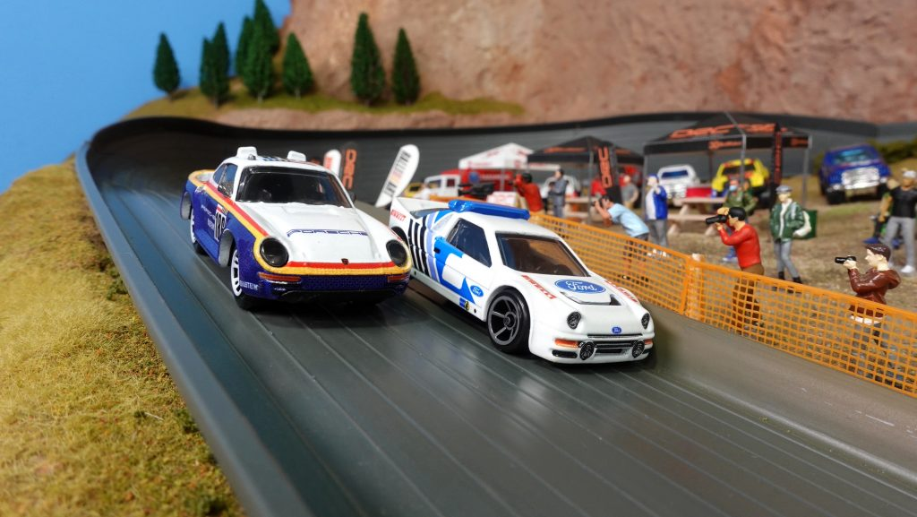 Classic rally car scale models